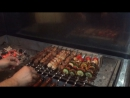 Шашлык на открытом мангале