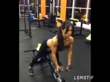 @ Regrann from @ anasteisha_ifbb -  Тренировка на мышцы спины в @ skmedved_krd . #changewithme #fitnessbikini #personaltrainer #