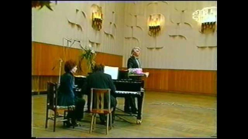 DMITRI HVOROSTOVSKY. RECITAL-97. MAHLER, Lieder eines fahrenden Gesellen.(continuation/part4)