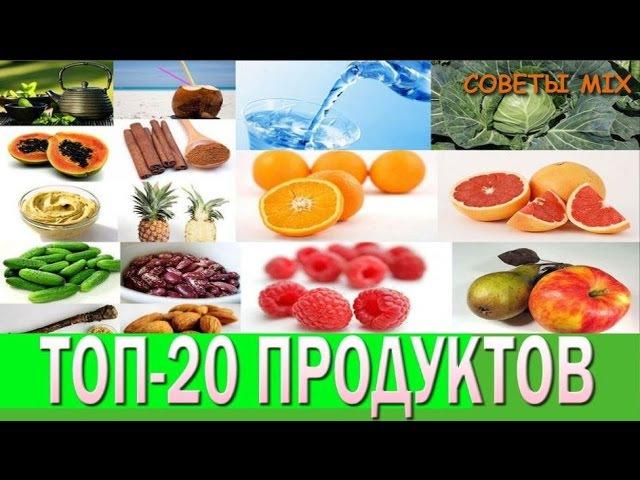 Похудение Топ 20 продуктов с минимальной калорийностью Фрукты Овощи Полезные свойства А ты знал