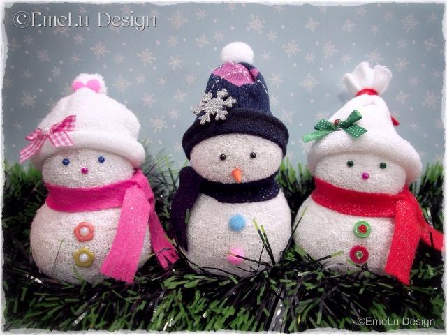 DIY Snowman Muñeco de nieve