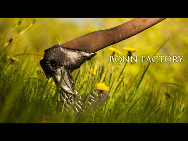 Переделка топора Полный процесс изготовления Ворон Nevermore закалка в масле