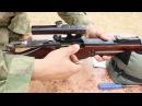 Снайперская винтовка Мосина Трехлинейка с коробки стреляет в гильзу