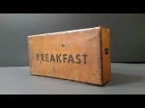 1945 WW2 US K Ration Breakfast MRE Review 70 Year Old Pork &amp Eggs Meal Ready To Eat Unboxing