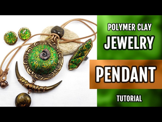 DIY ! ETHNIC JEWELRY Set making with Round Pendant with Lisa Pavelka FOILS. HOW to Make!