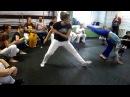 2 Years Afro-Ritmo Capoeira in Moscow - instrutora Andorinha, instrutora Alfinete, monitor Sereno