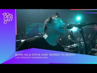 "Blink-182 Steve Aoki Perform ""Bored To Death"" | Wonderland | MTV"