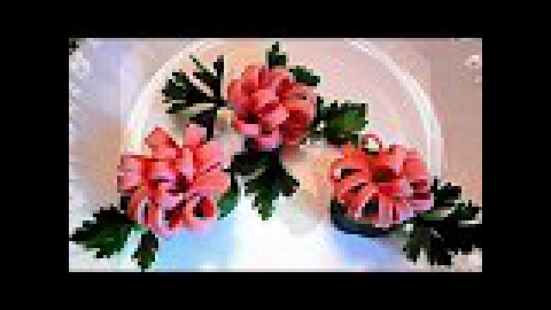 7 LIFE HACKS HOW TO CUT THE SAUSAGE - ART IN VEGETABLES GARNISH CUCUMBER TOMATO CARVING