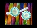 Новая зефирка из лент из отдельных лепестков Канзаши мастер класс