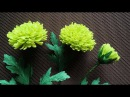 ABC TV How To Make Green Chrysanthemums Paper Flower From Crepe Paper - Craft Tutorial