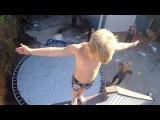 ПРЫЖОК ВЕРЫ НА БАТУТ ИЗ СКОТЧА! (Duct Tape Trampoline Leap of Faith w  Rocco Piazza!)