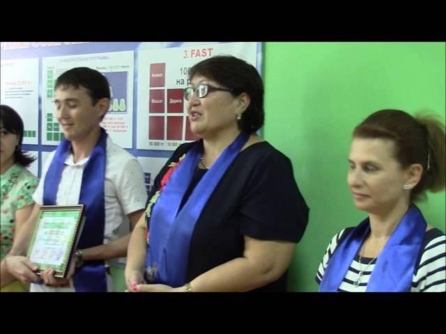 G-TIME CORPORATION 27.06.2016 г. Вручение 800 000 тенге партнеру из Туркестана