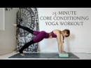 CORE CONDITIONING YOGA WORKOUT | 15-Minute Abs Workout | CAT MEFFAN