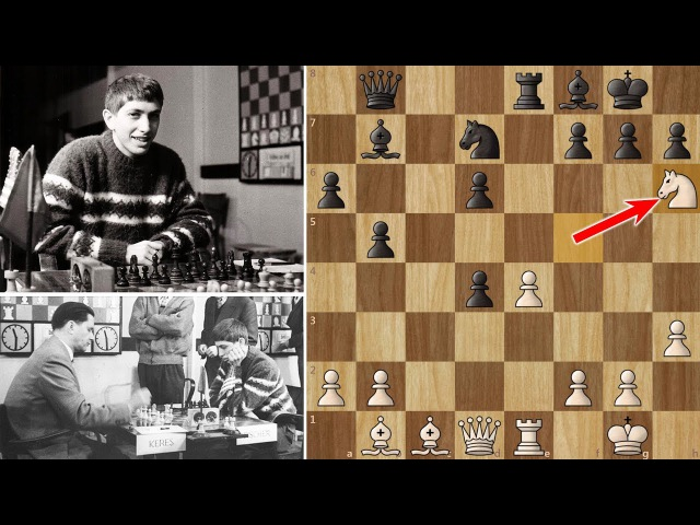 Bobby Fischer's first victory against a Russian Grandmaster (16 years old)