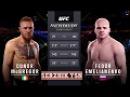 UFC 2 БОЙ Конор Макгрегор vs Федор Емельяненко com.vs com.