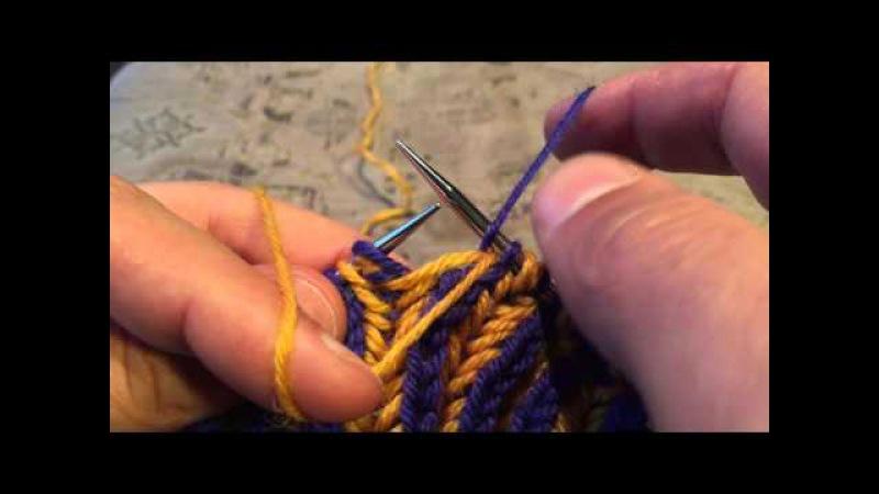 One-Pass Two-Colour Brioche - A Sockmatician Tutorial
