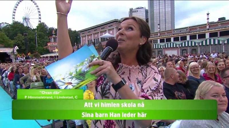 Lotta Engberg, Per Andersson, Linus Wahlgren and the audience–Pärleporten och Ovan Där.(Lotta På Liseberg 24.07.2017.)