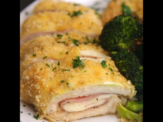 Куриные роллы с сыром и ветчиной