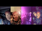 Adam Lambert on saulisunflare snapchat cochella with 4/14/17 (4 snaps flipped)
