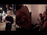Adam Lambert on grayjoeys Snapchat 4/27/16 (3 snaps)