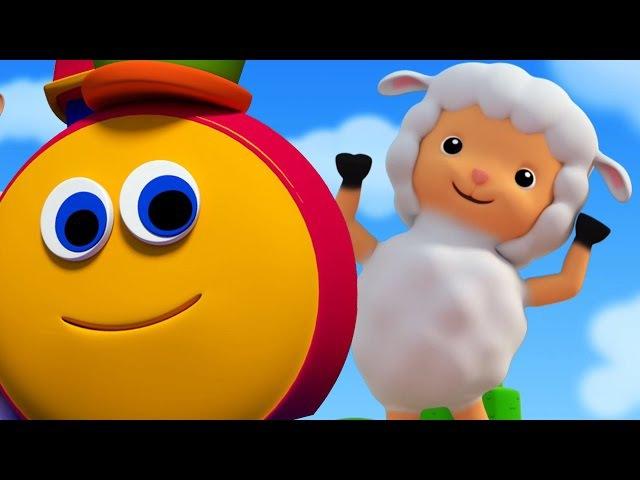 мэри был маленький ягненок | боб поезд песня | Дети рифмы | Bob The Train | Mary Had A Little Lamb