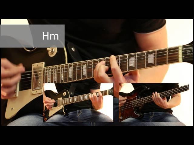 Как играть на гитаре Проклятый старый дом - Король и шут ( видеоурок Guitar riffs) табы