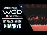 KRANKYD  1st Place Youth  World of Dance Montreal Qualifier 2017  Winners Circle  #WODMTL17