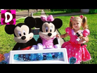 День Рождения МИННИ МАУС Приехали Гости Микки Маус и Минни, Mickey Mouse Disney Видео Для Детей