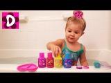 Диана любит ПЕТЬ В ВАННОЙ Купаемся с Цветным Мылом Пони Видео для Детей MLP Soap Vlog for Сhildren