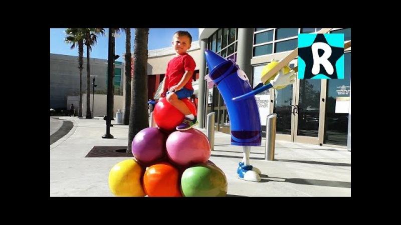ВЛОГ Миллион Карандашей! Детский Развлекательный Центр КРАЙОЛА Видео для Детей vlog for children