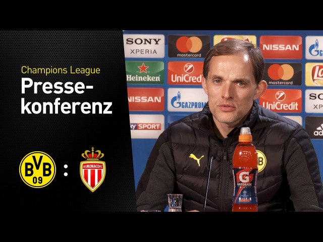 PK Thomas Tuchel: EIne ganz besondere Herausforderung | BVB - AS Monaco 2:3 » Freewka.com - Смотреть онлайн в хорощем качестве