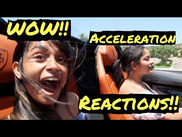 MY FRIEND'S REACTIONS TO ACCELERATIONS IN MY LAMBORGHINI SV ROADSTER!!
