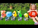 Bad Babies Colored Dogs steals Candy from Cute Girl - Candy Accident! Nursery Rhymes Songs for kids