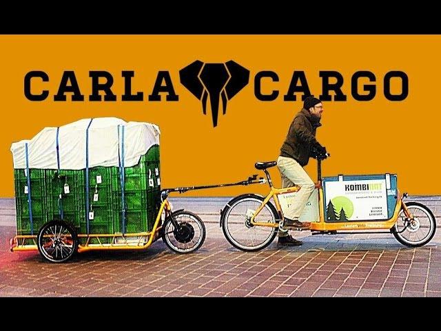 Carla Cargo Power Trailer mit 150kg Gemüse - Praxis Test 2016 - Lastenanhänger