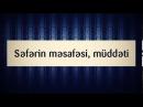 Səfərin məsafəsi, müddəti || Abu Zeyd