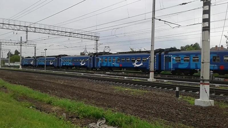 Электропоезд ЭД4М, Экспресс Голутвин (РЭКС) на участке Раменское-Фабричная.