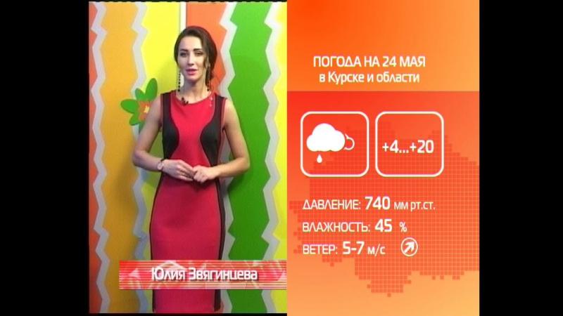 СТС-Курск. Прогноз погоды на 24 мая