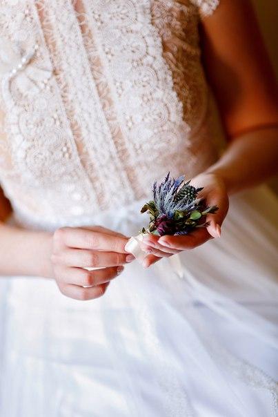 Бутоньерка жениха. Декор и флористика: Friday Flowers; Фотограф: Дмитрий Никитин (nikitindmitry.com)