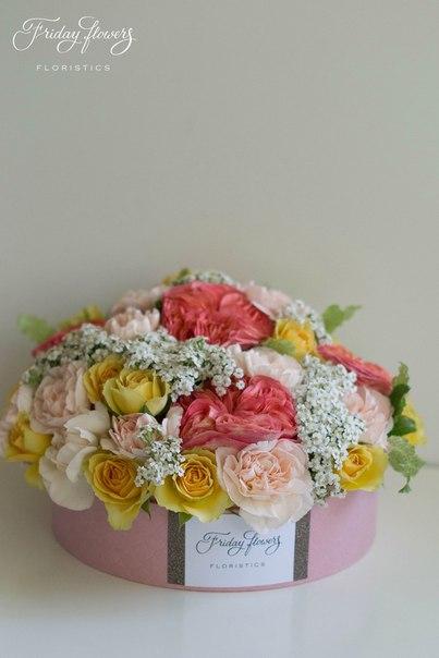 Цветочный тортик №4 (композиция на стол).