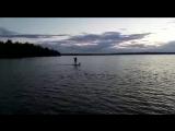 вечерняя прогулка по озеру на Валдае