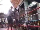 Mike Tyson sparring before Danny Williams with Freddie Roach