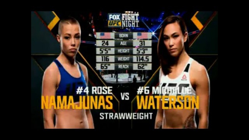 Rose Namajunas vs Michelle Waterson Full Fight
