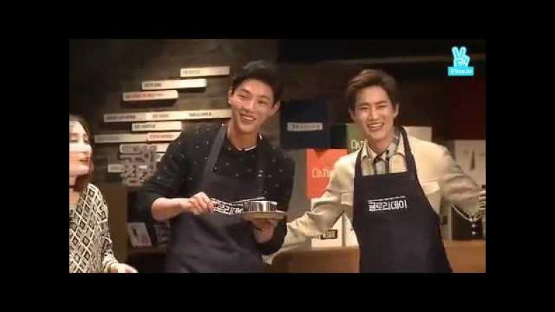 【Jisoo x Suho x Heechan x Junyeol】Dance and Sing EXO Songs with Pastry