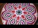 Вязание круглого жаккардового коврика крючком