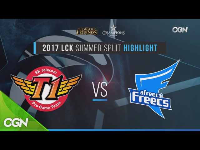2017lcksummer [H/L 2017.08.12] Wild Card SKT vs Afreeca Game1 - 2017 LCK Summer Split (롤챔스 하이라이트) 17
