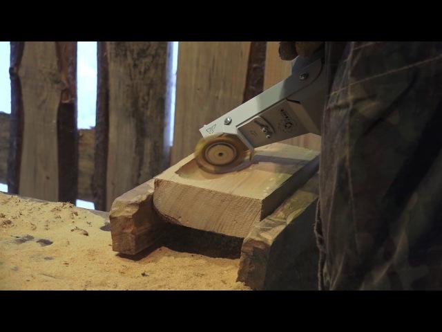 Минигриндер для резьбы по дереву Комбо Wood - Фреза Р6М5 толщиной 5 мм, работа с перегрузкой