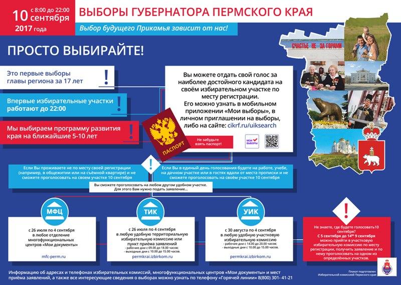 выборы, Пермский край, 2017 год
