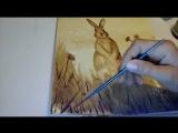 Мастер-класс по кофейному рисованию зайчика (демо)