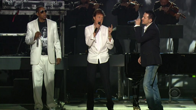 Linkin Park / Jay-Z / Paul McCartney - Numb / Encore / Yesterday (720p) [48th Grammy Awards, Live 2006]
