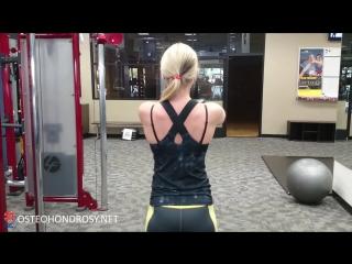 Упражнение на укрепление мышц лопаток и растяжку мышц передней поверхности грудной клетки